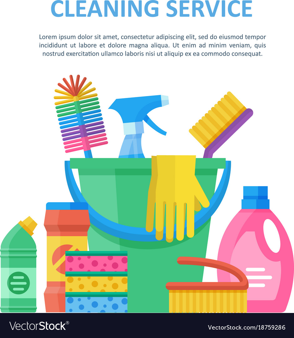 Janitorial services vector