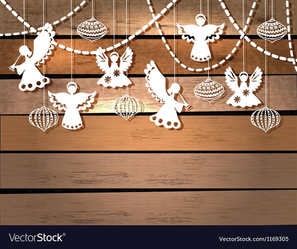 Ангелочки своими руками на рождество из бумаги