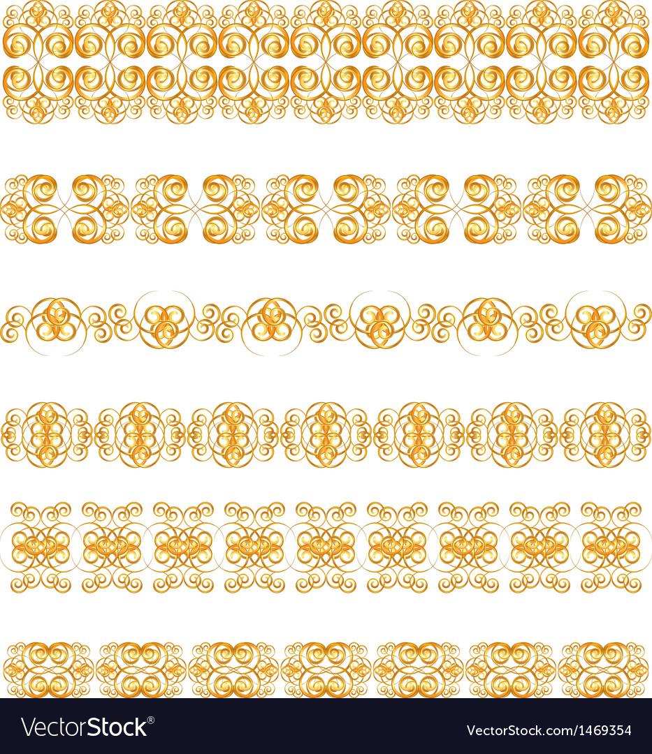 Elegant gold page border