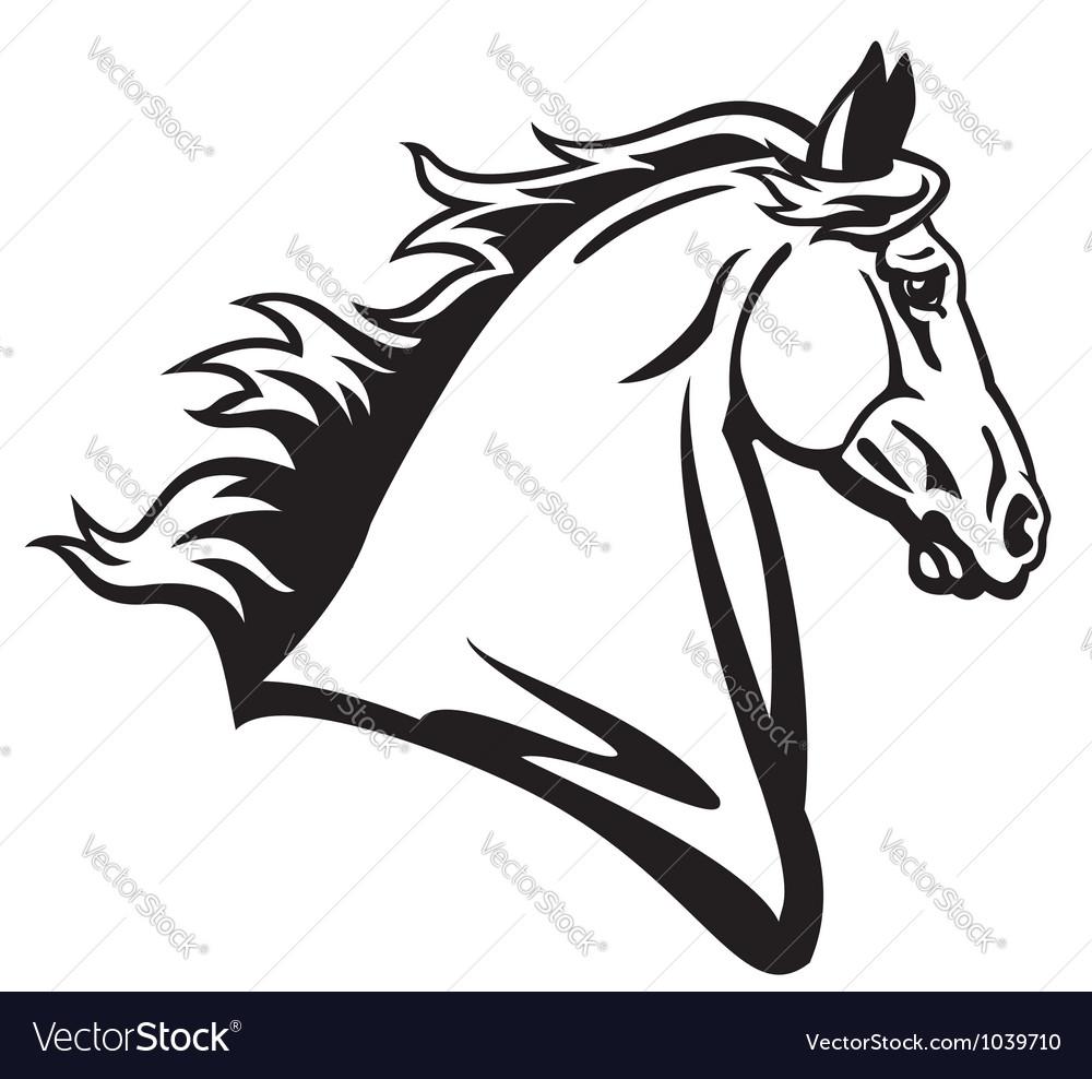 Horse head profile outline