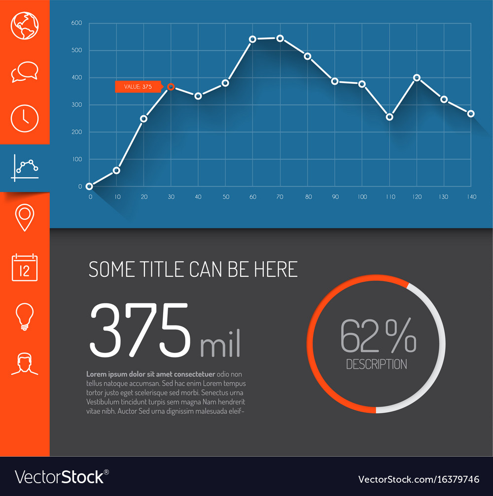 Infographic dashboard template