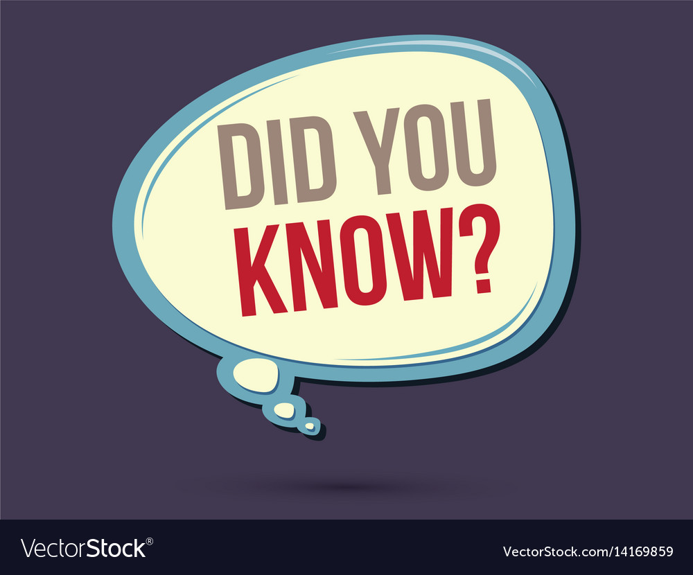 Did you know clipart