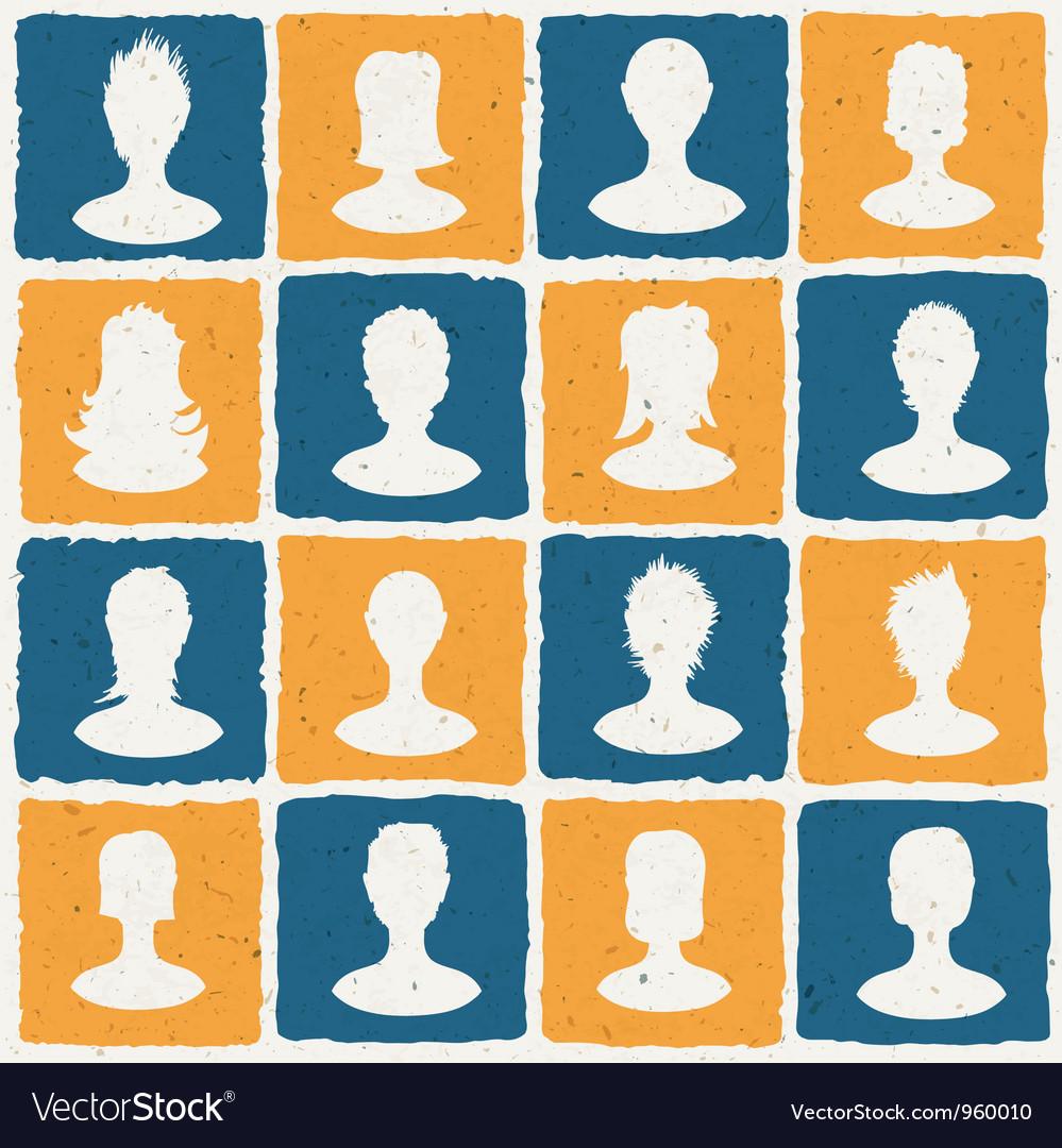 Social network tiles vector