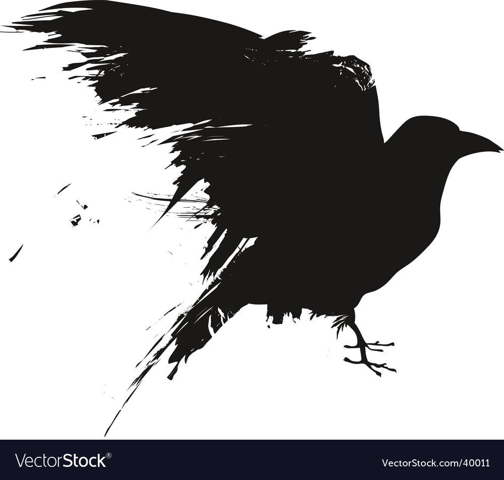 Grunge birds vector