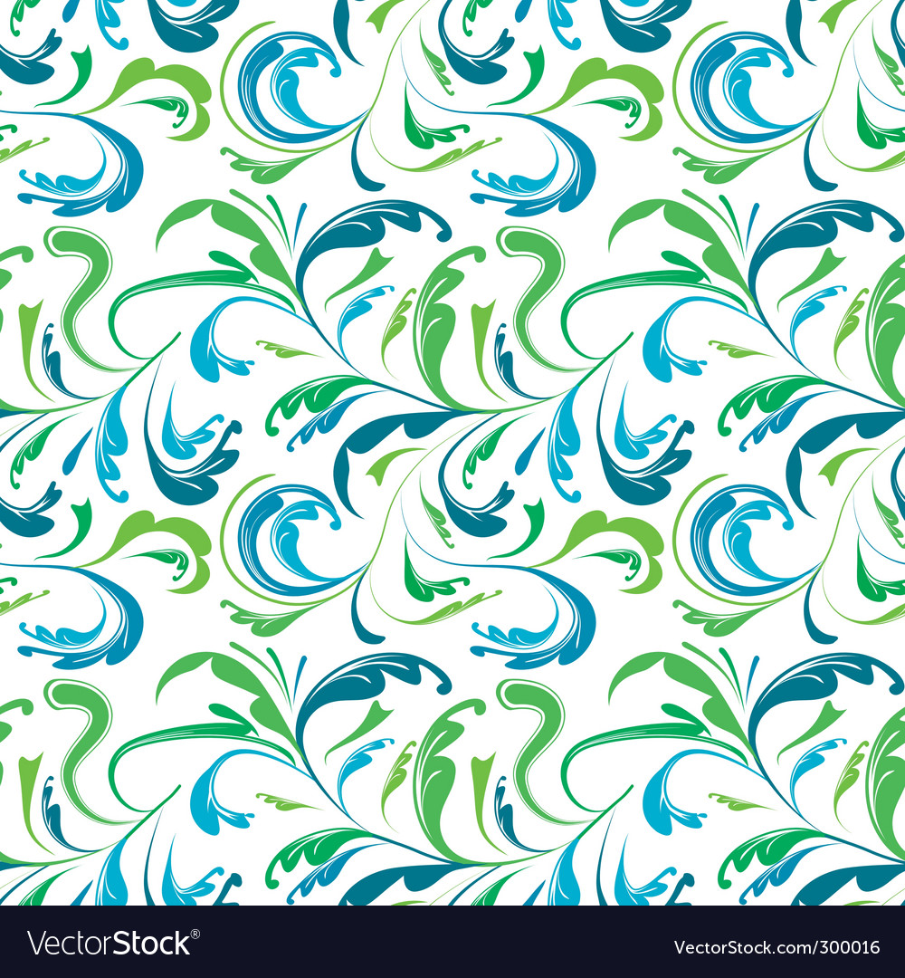 Seamless background with colorful plants vector