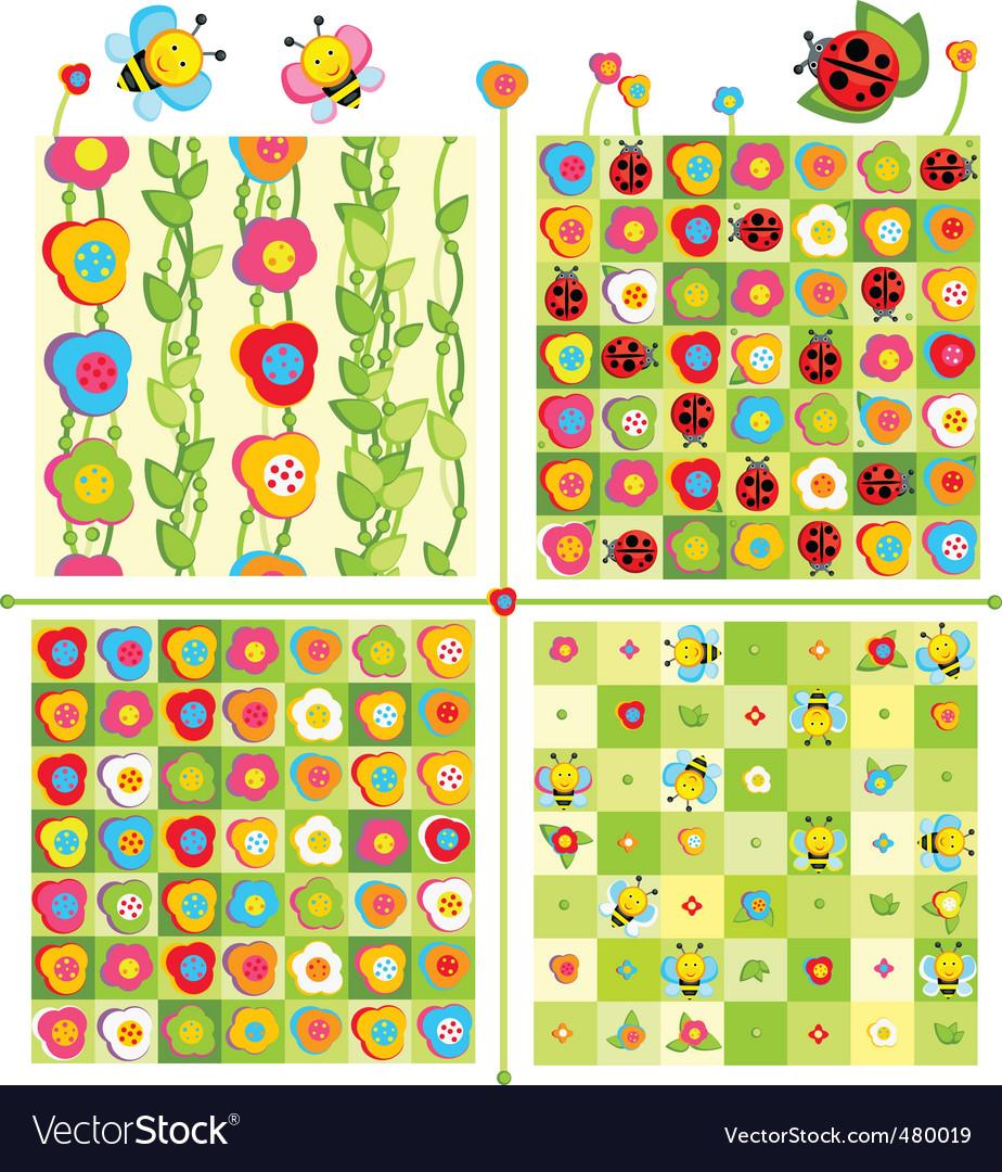 Cute pattern vector