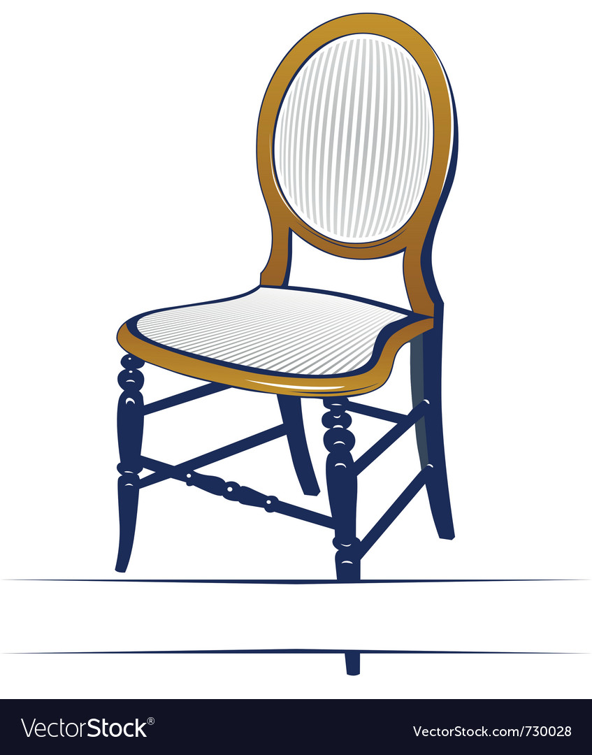 Retro wood chair vector