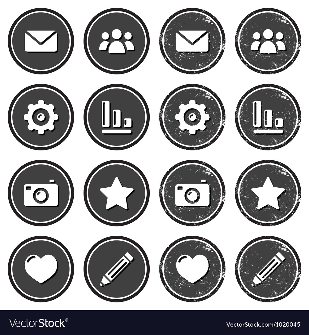 Website menu navigation retro grunge labels vector