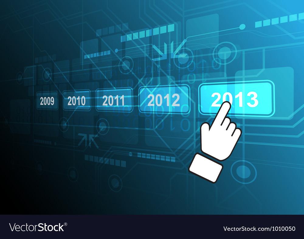 Cursor click 2013 button vector