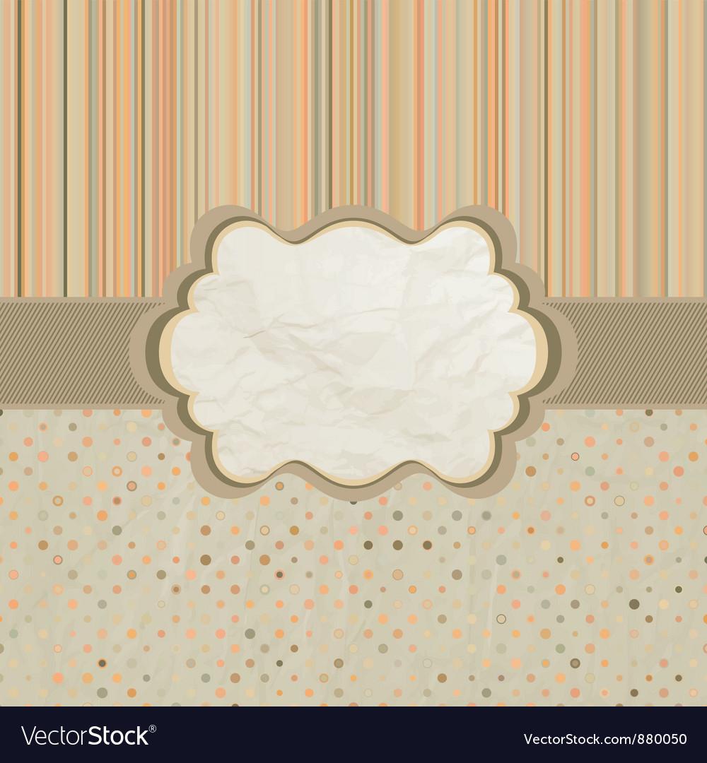 Polka dots pattern card vector
