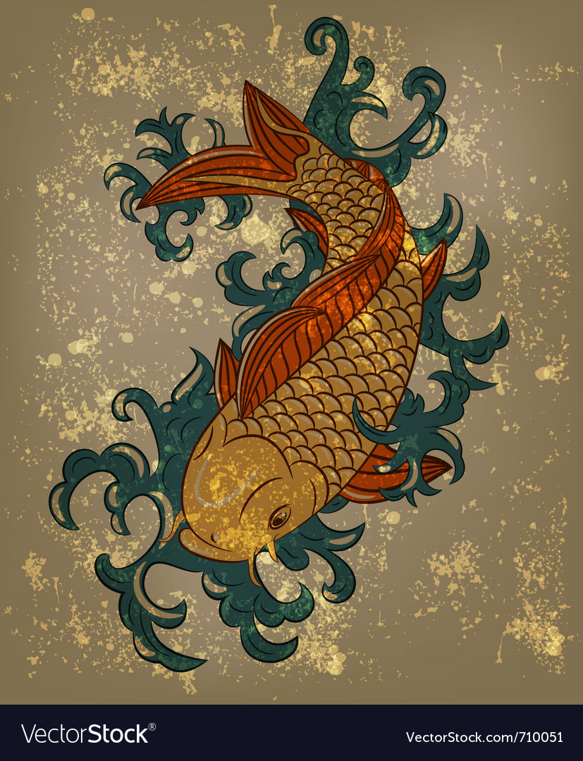 Japanese koi vector
