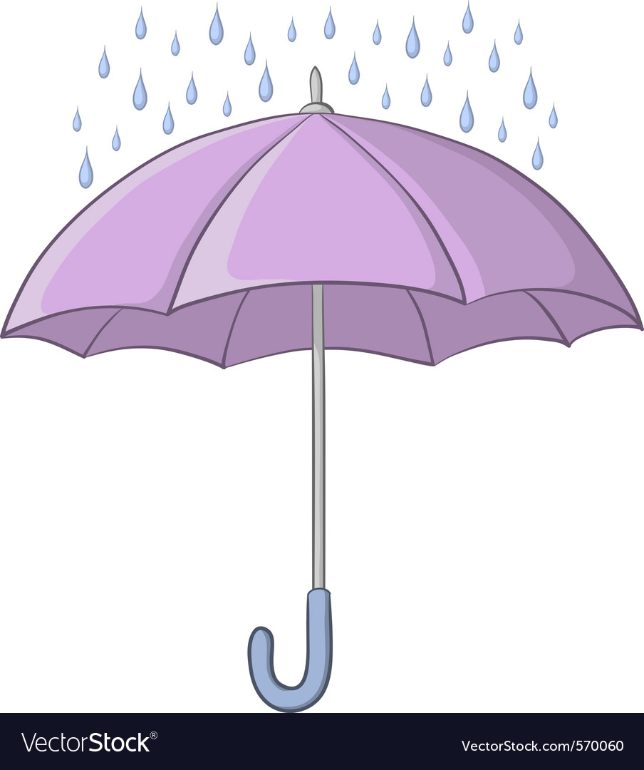 Umbrella and rain vector