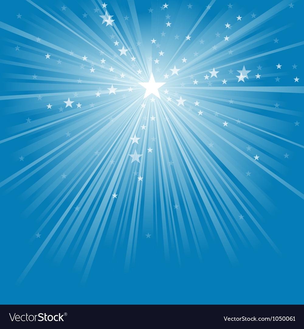 Light rays and stars vector
