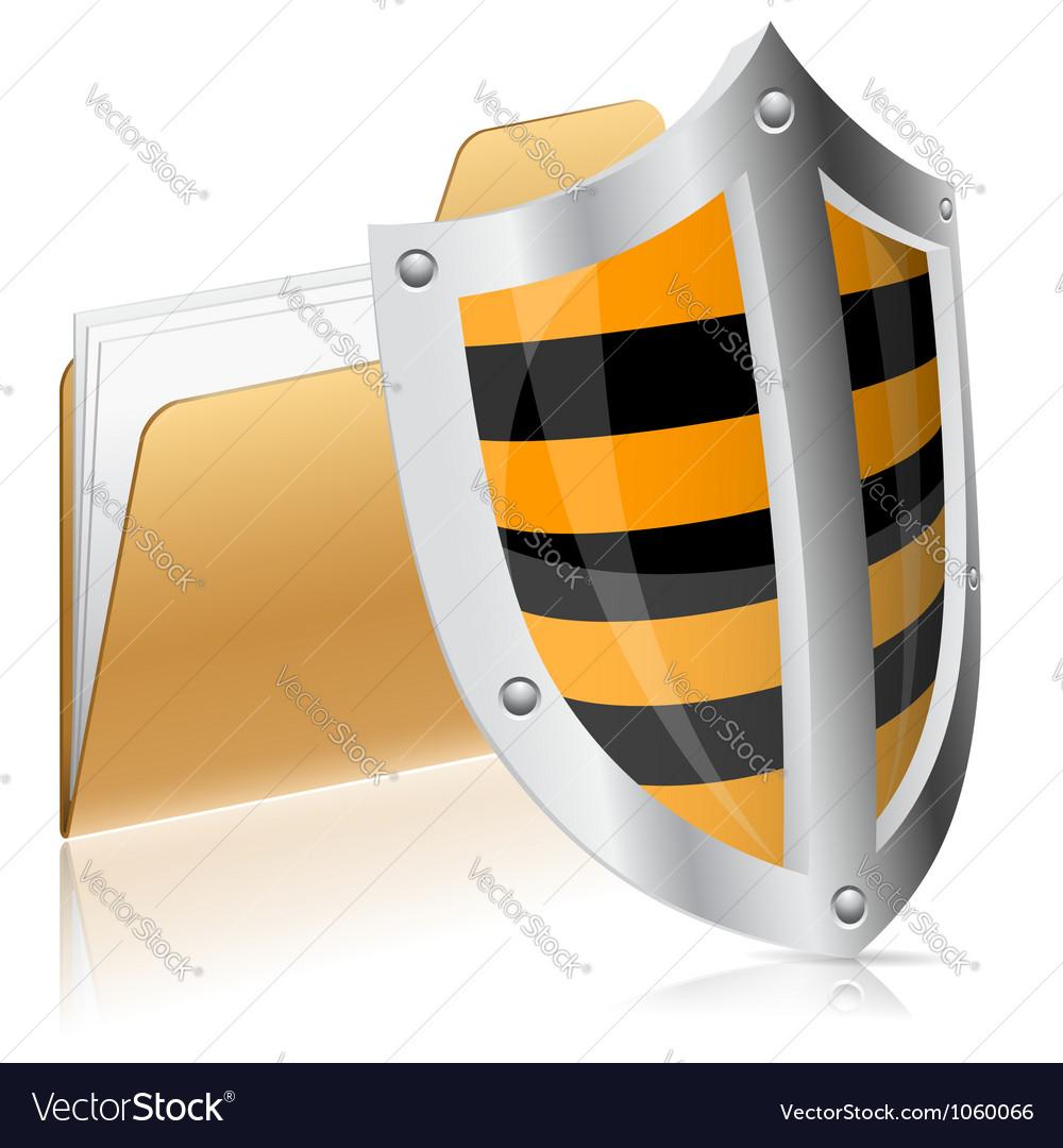 Security computer data concept vector