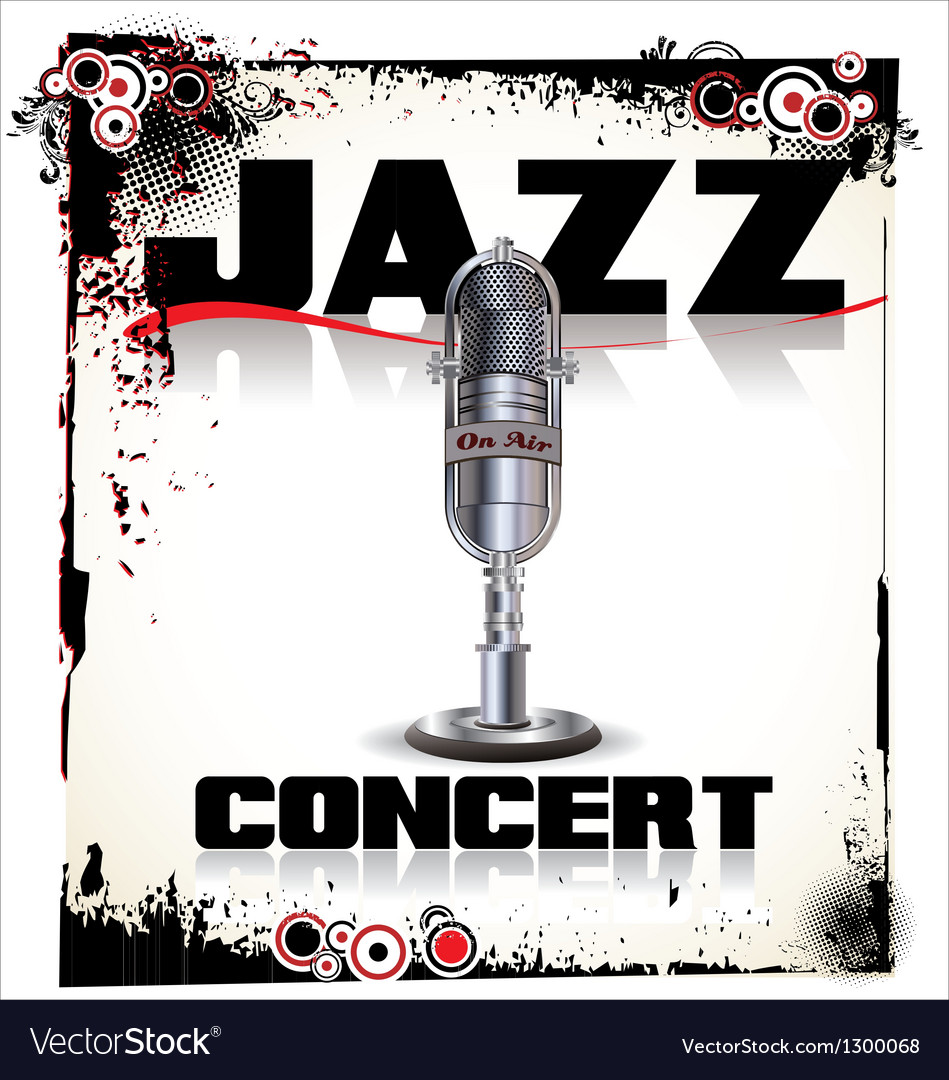 Jazz concert background vector