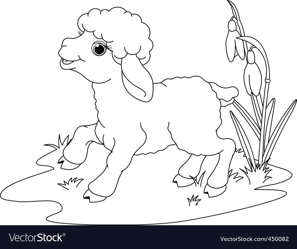 Coloring Page Lamb Easter lamb coloring page