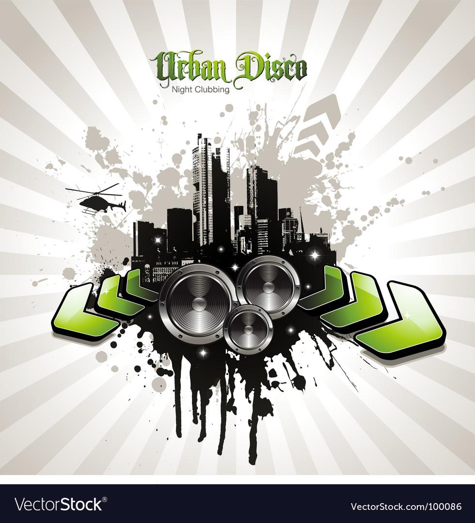 Urban disco vector