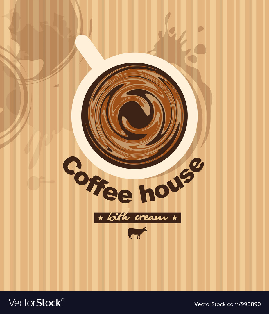 Coffee with milk vector