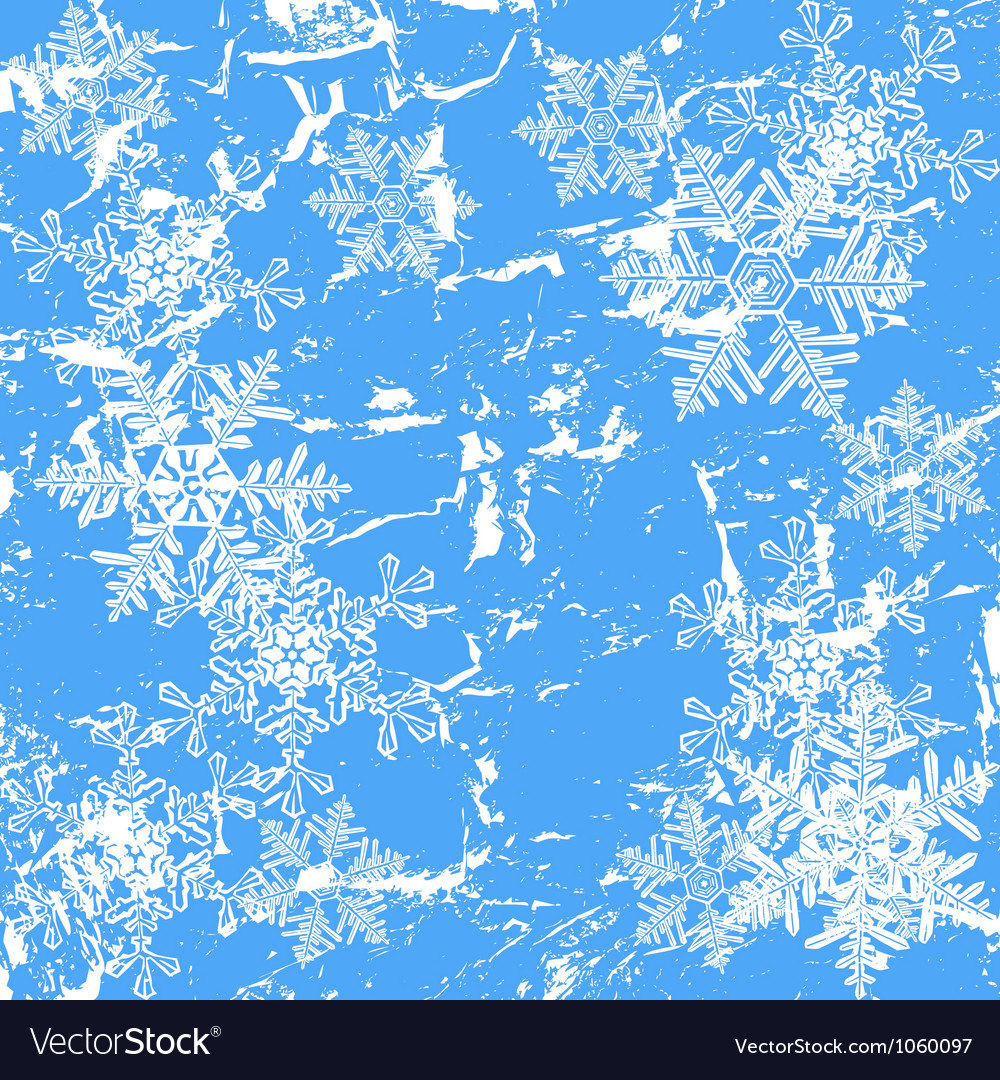 Frozen window - winter background vector