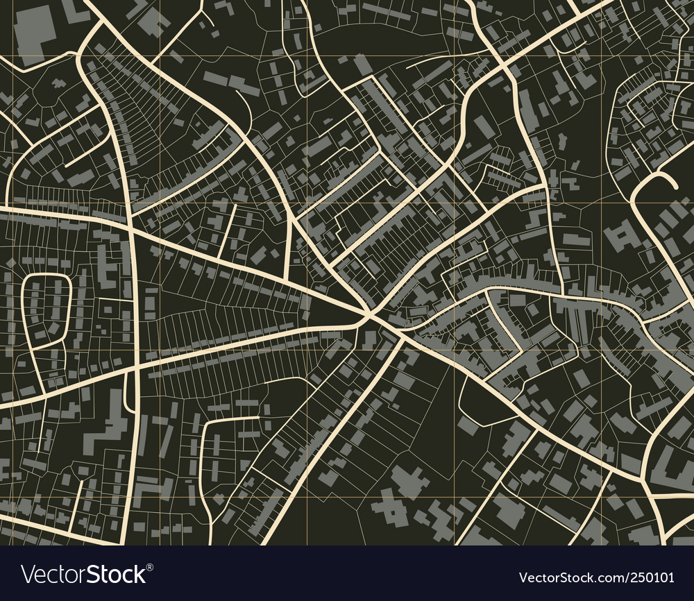Town map vector