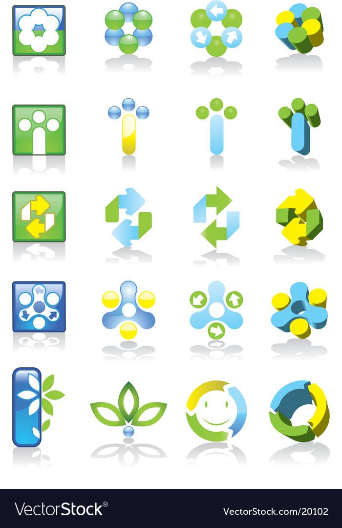 Environmental logos vector