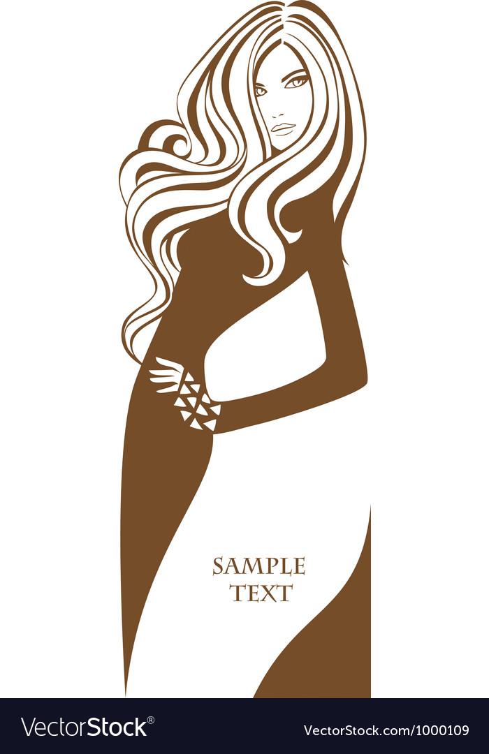 Female banner vector