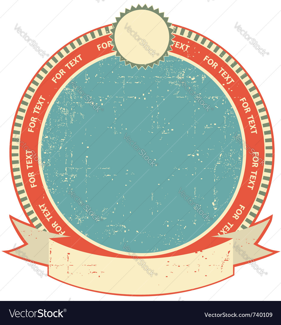 Label on old paper vector