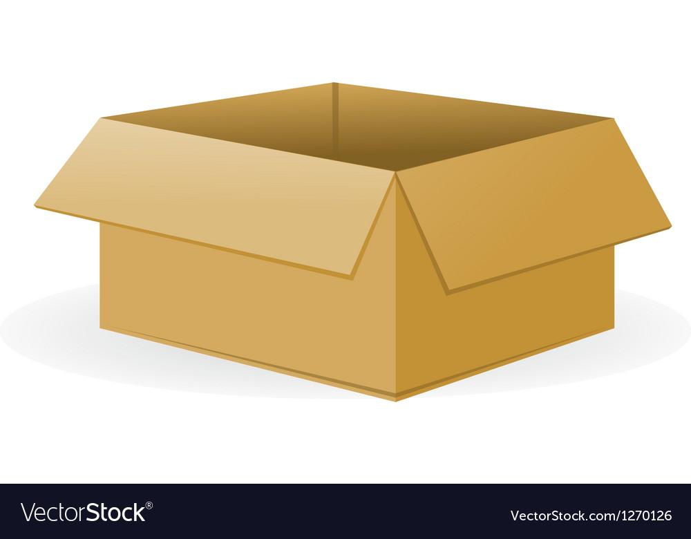 Open cardboard package vector