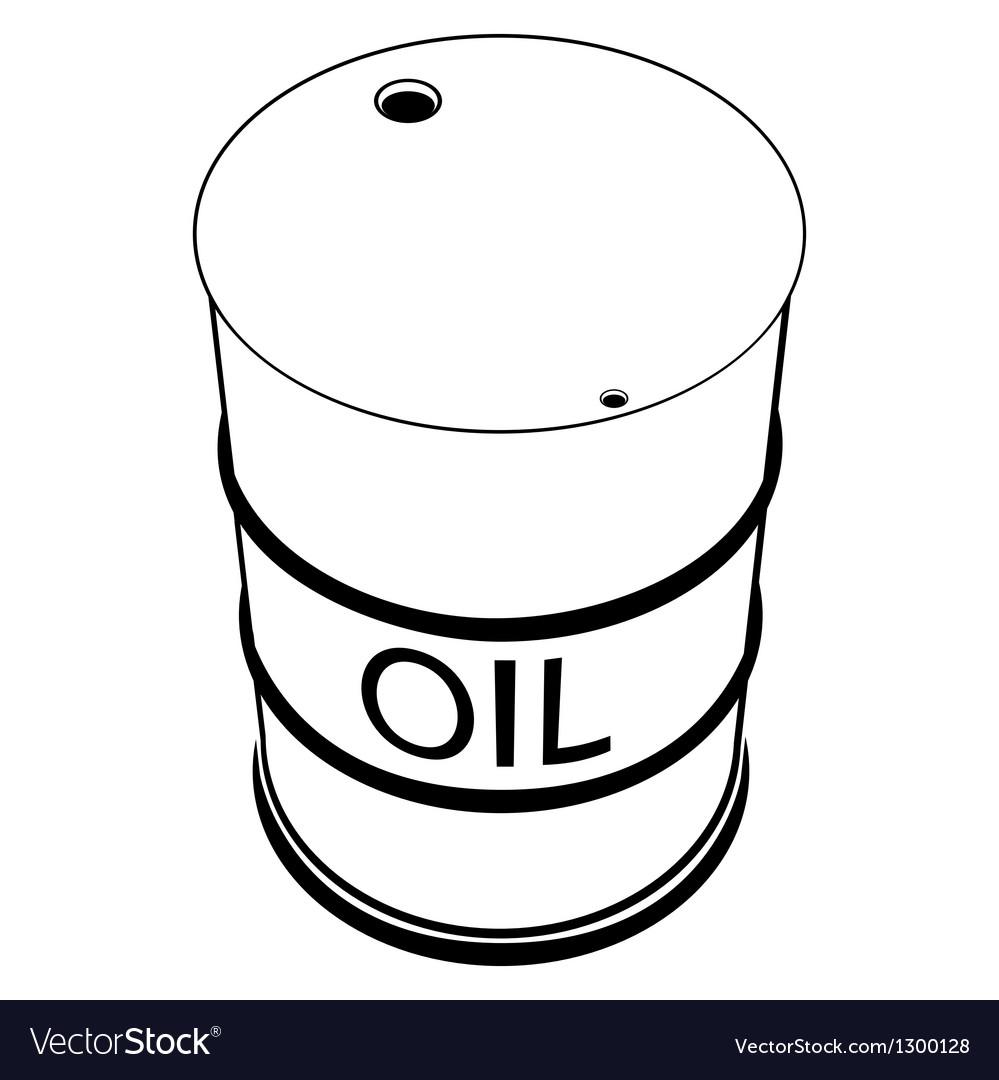 A barrel of oil vector