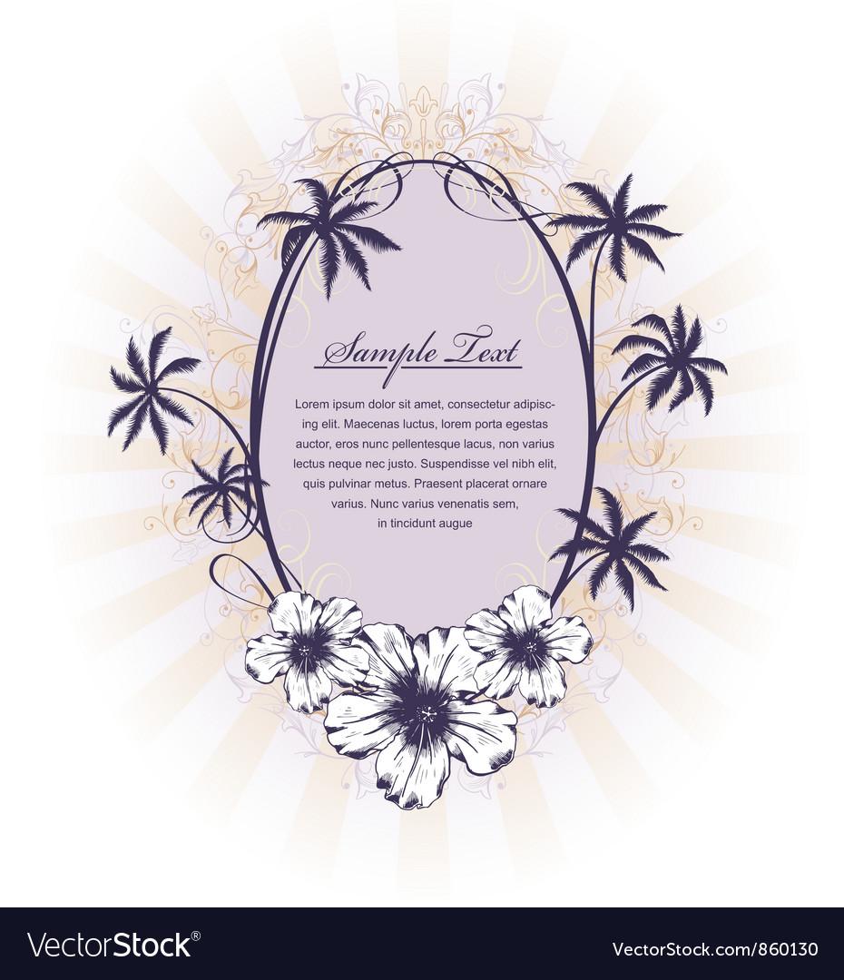 Summer floral frame vector