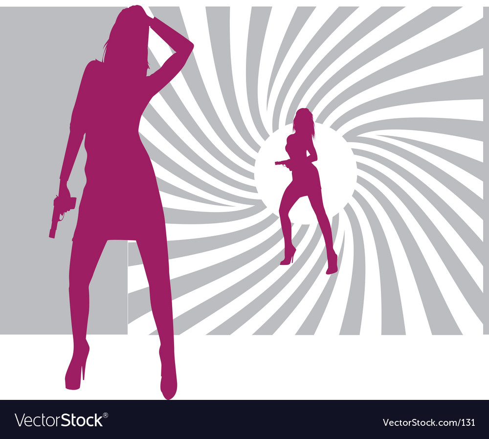 Free 007 bond girls vector