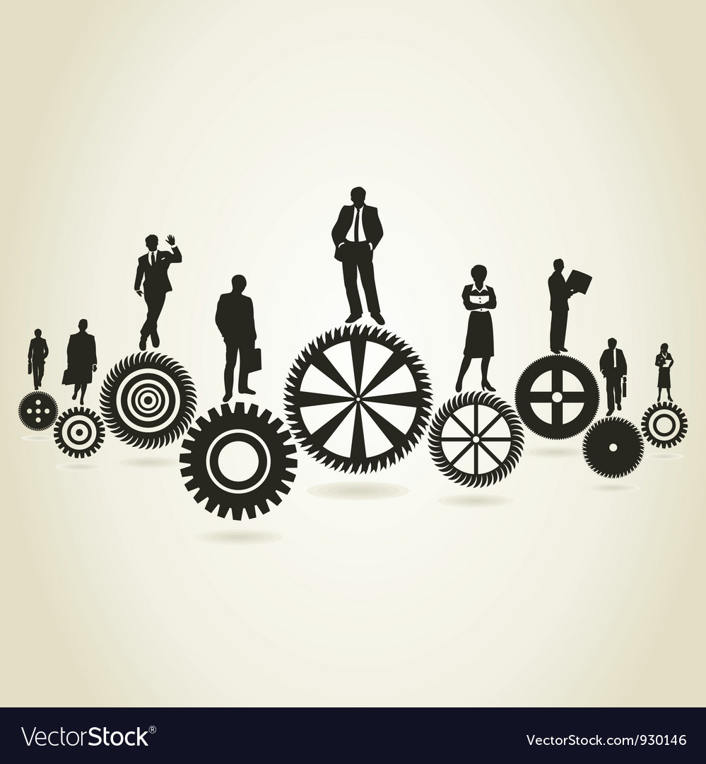 Business a gear wheel vector