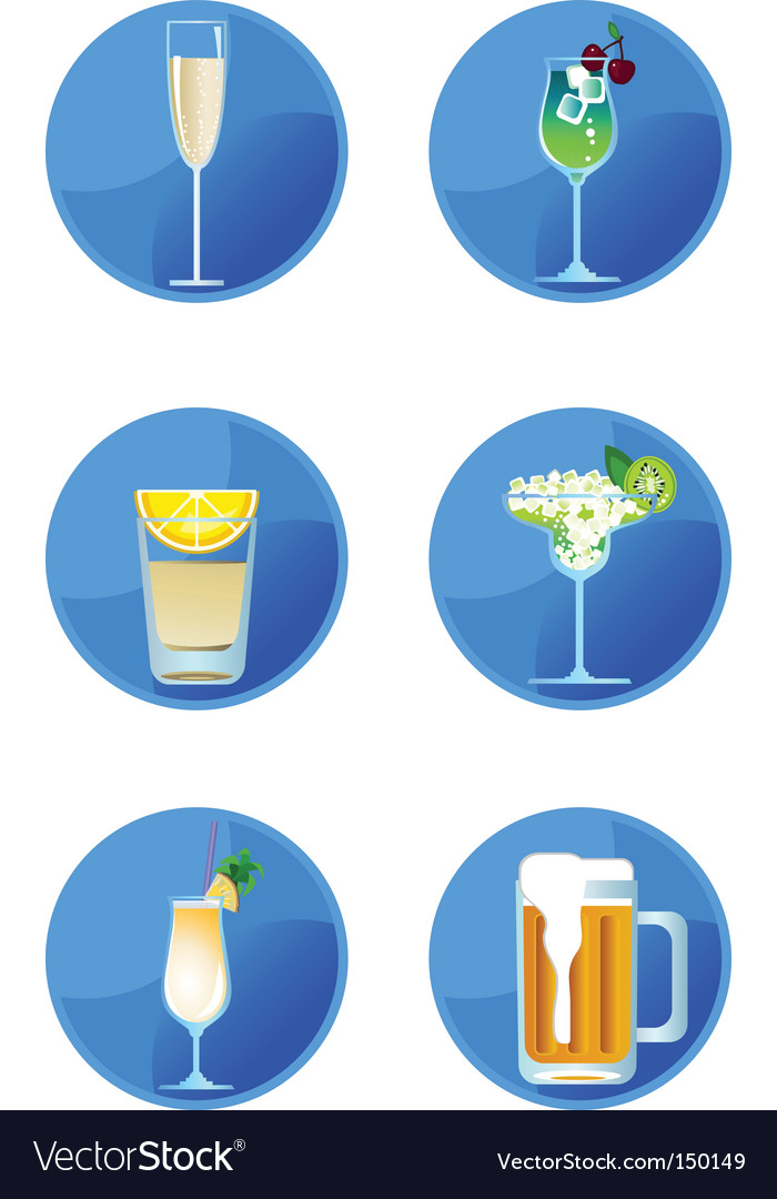 Icons drinks vector