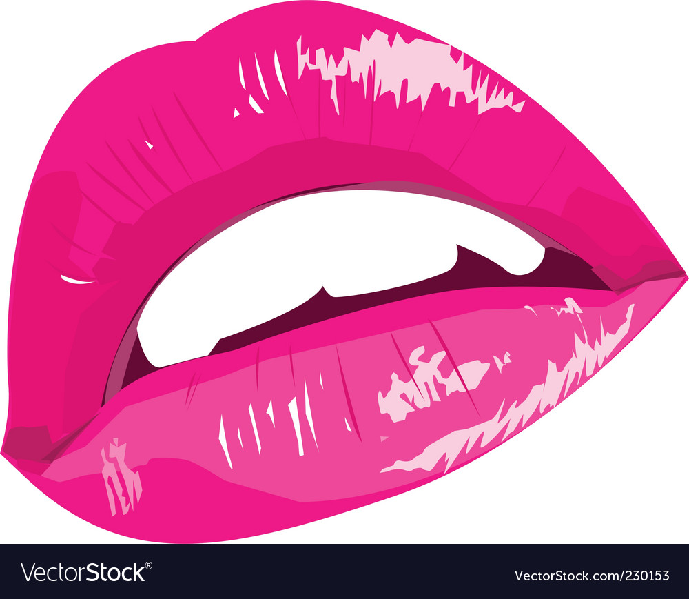 Sexy woman lip vector