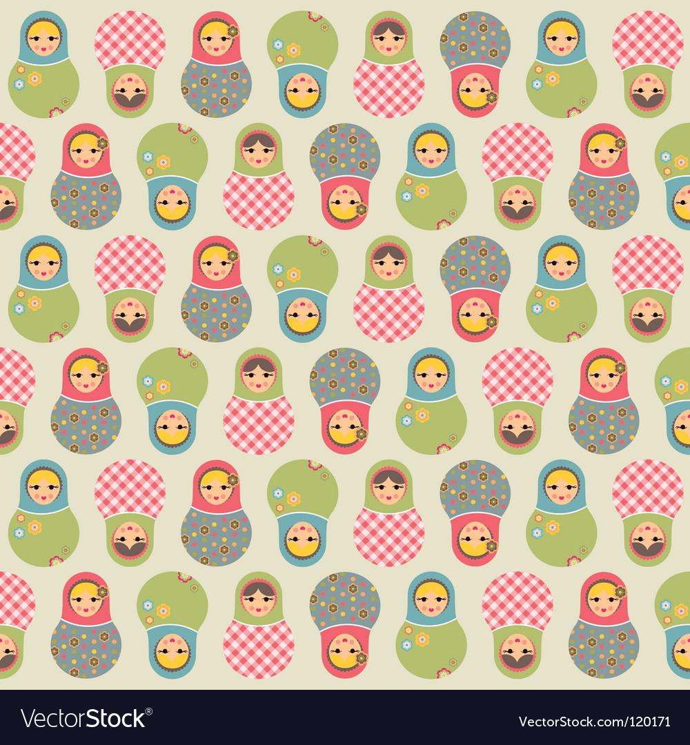 Babushka pattern vector
