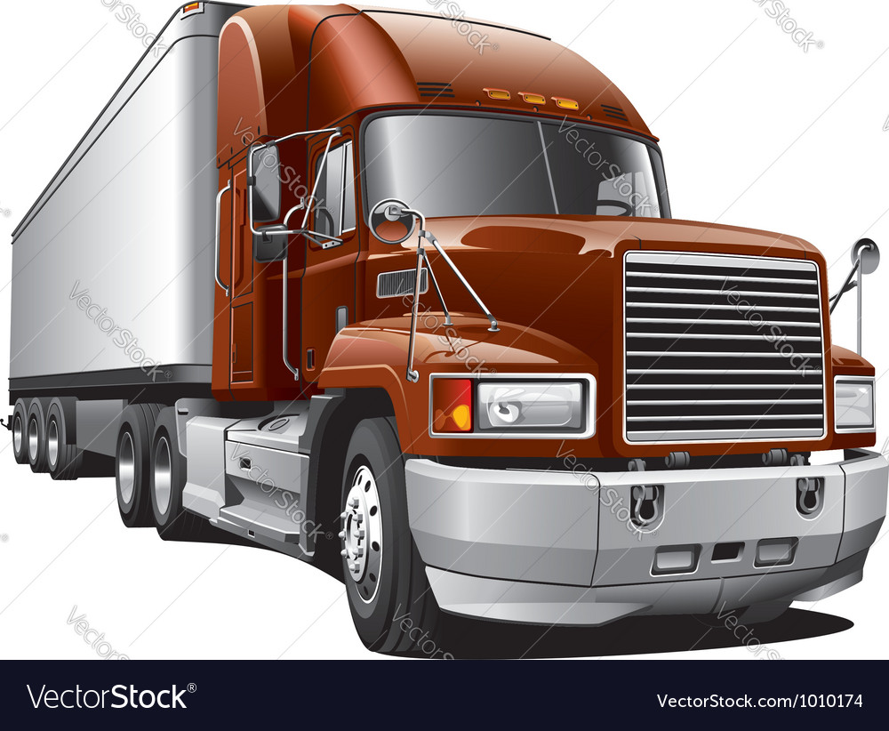 Large delivery truck vector