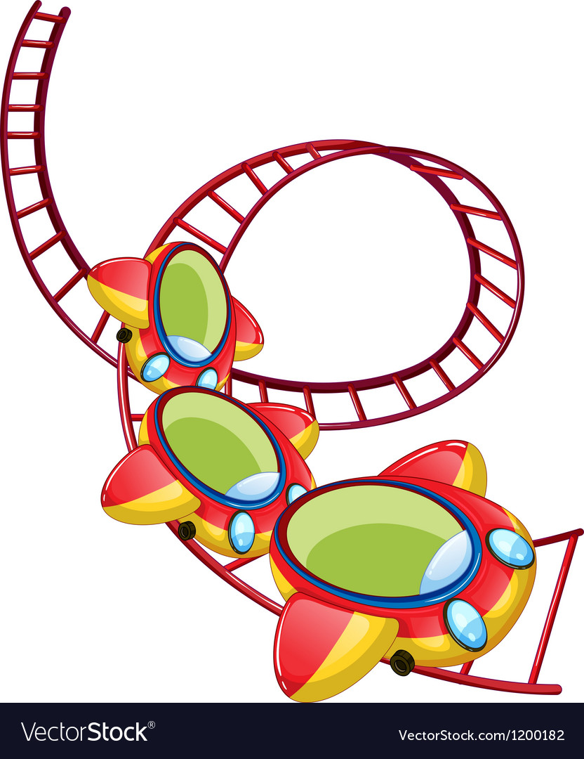 A roller coaster ride vector