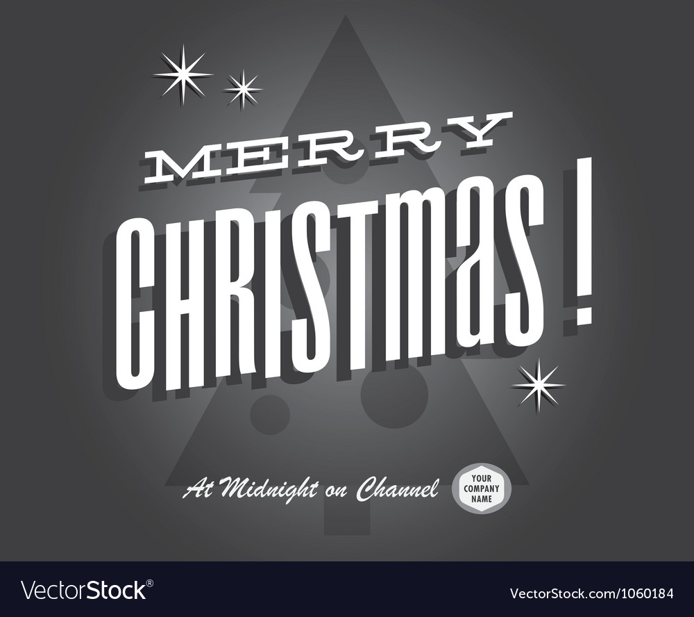 Merry christmas card vintage vector