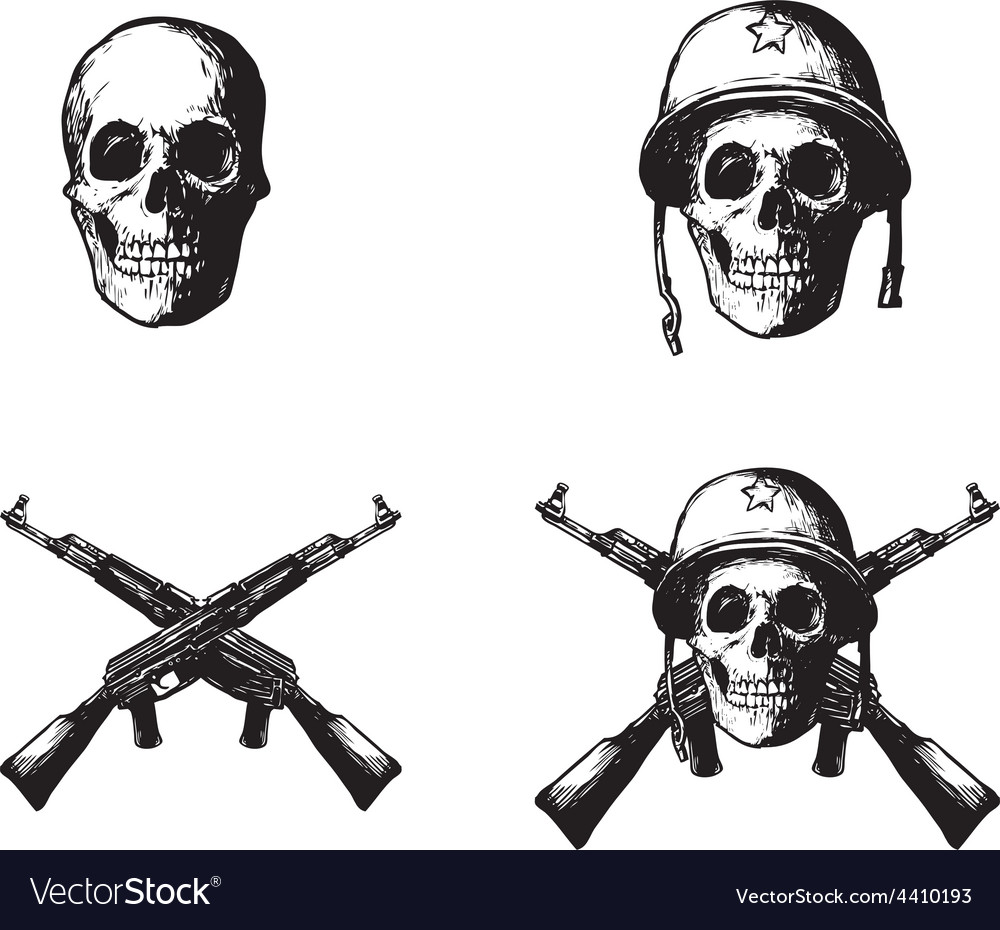 Skull army vector by makou image 4410193 vectorstock