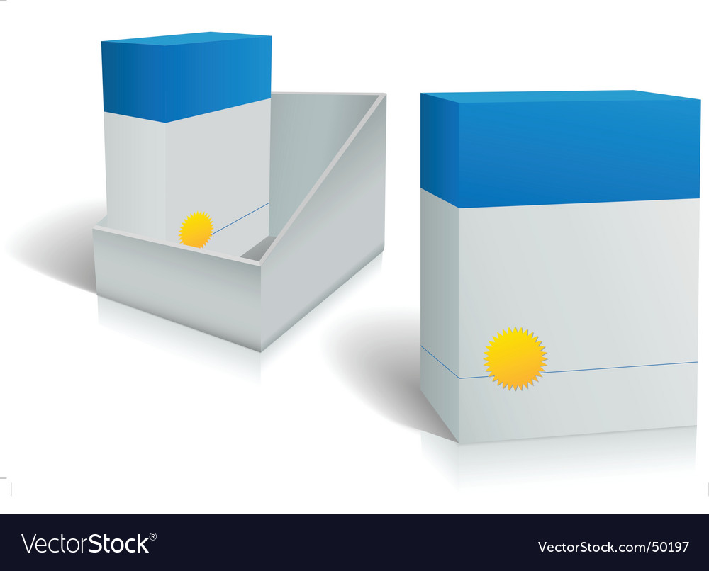 Two software product boxes vector