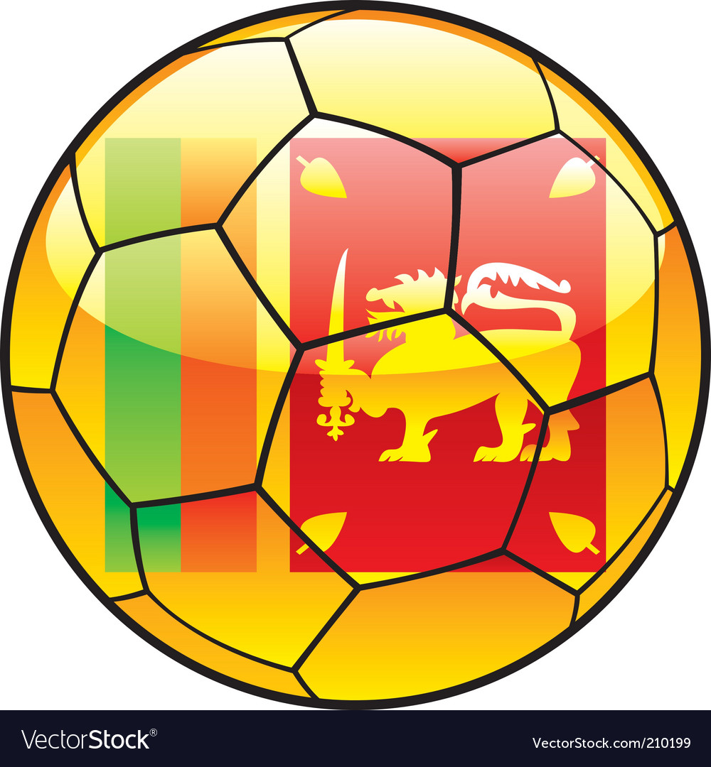 Sri lanka flag on soccer ball vector
