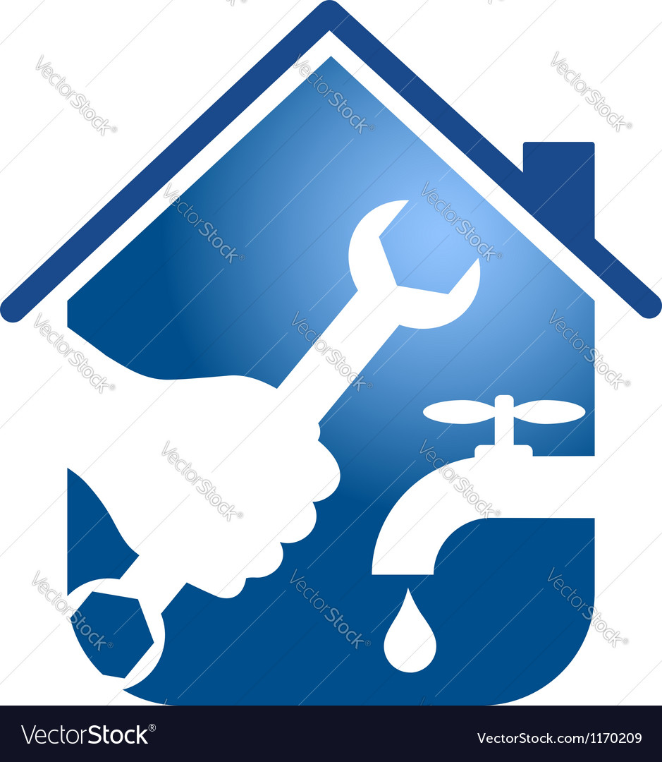 Plumbing repairs business design vector