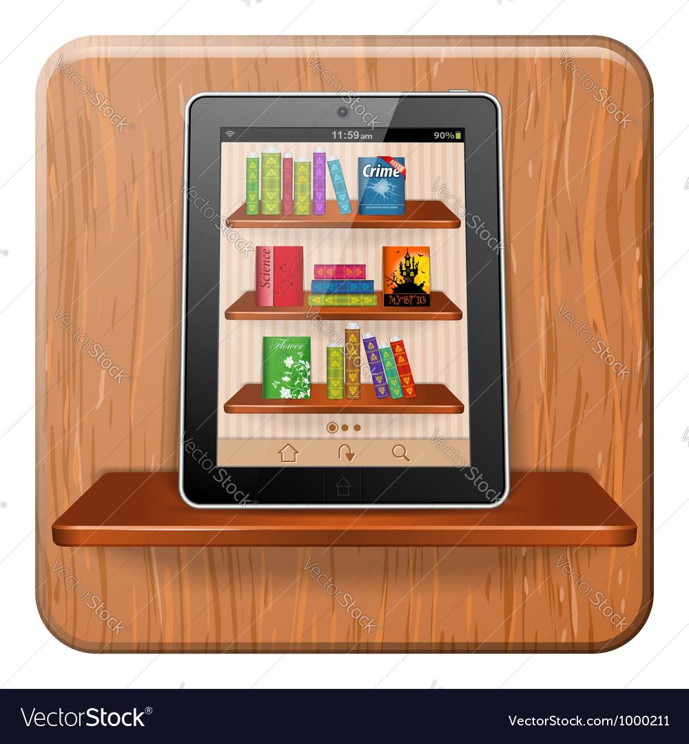 E-book concept vector