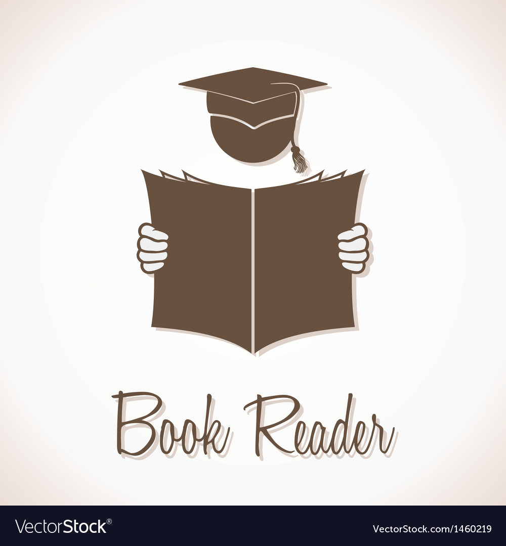 Book reader sign vector