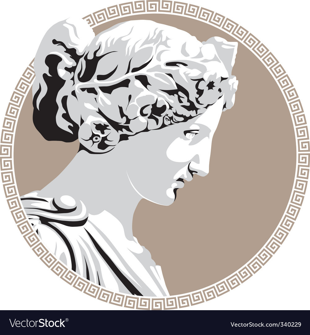 Ancient goddess vector