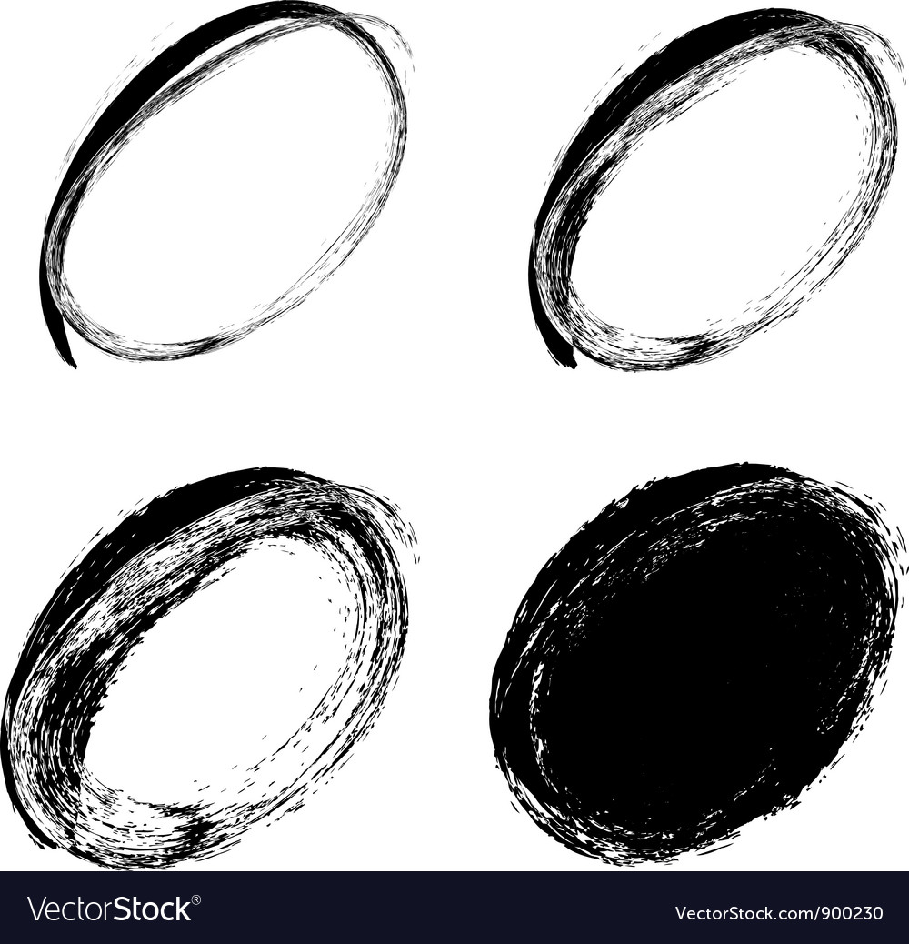 Hand drawn ovals vector