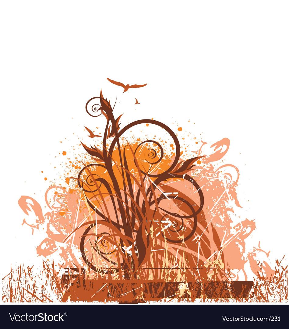 Free floral grunge vector