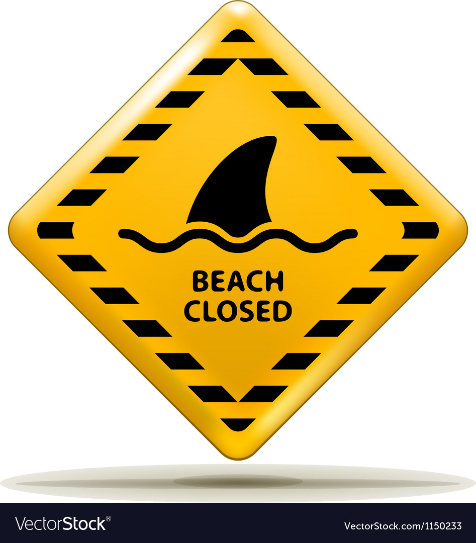 Beach closed sign vector