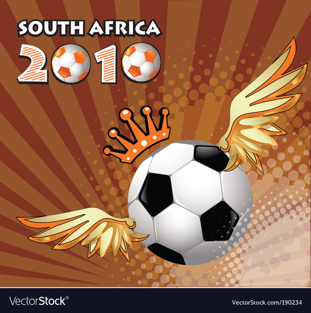Soccer ball winner vector
