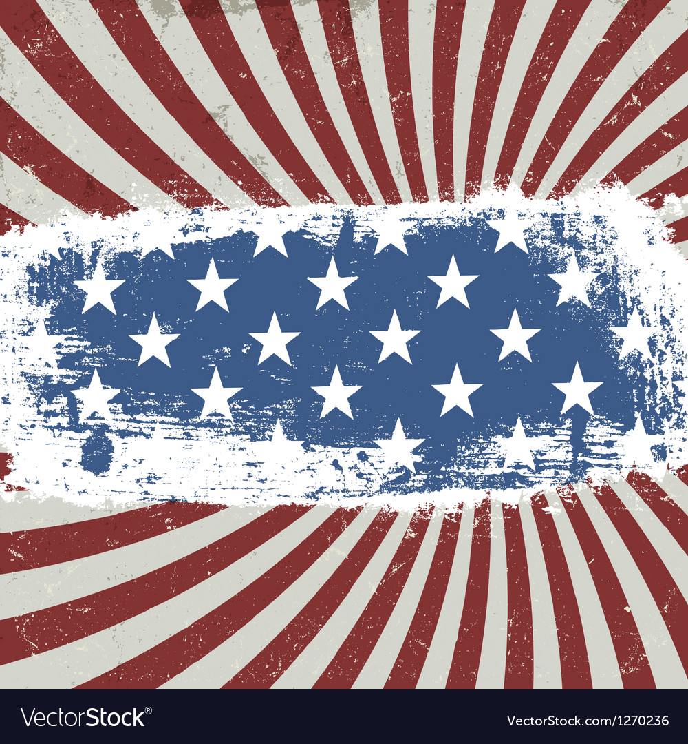American patriotic rays background vector